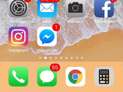 iPhone Chrome on Dock Saved