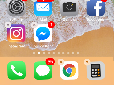 iPhone Chrome on Dock