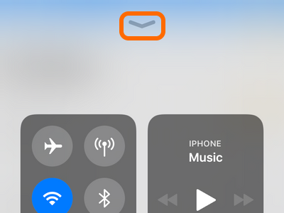 iPhone Control Center Hide Button