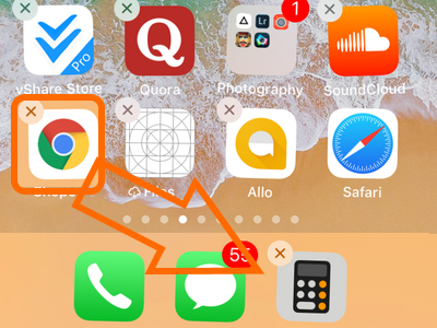 iPhone Drag Chrome to Dock