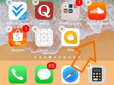 iPhone Drag Safari Out of Dock