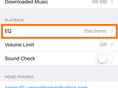 iPhone Settings EQ