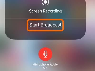 iPhone Start Broadcast