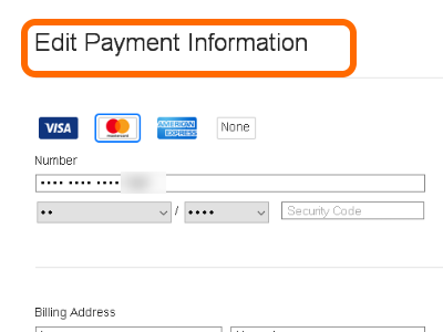 iTunes Edit Pay Information