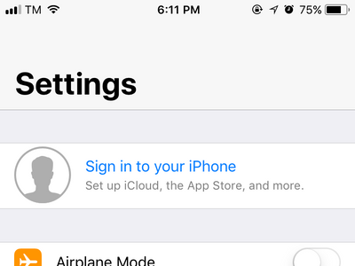 sign into Your iPhone