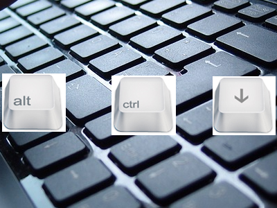 Alt CTRL Down Arrow