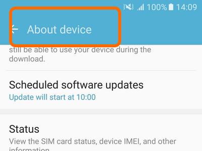 Android Home Settings About Device