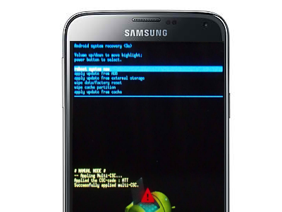 Android Recovery Screen