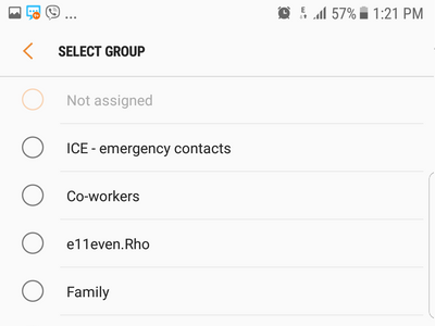 Android S7 Select Contact Group