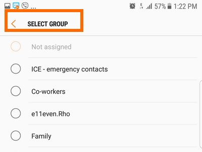 Android S7 Select and Save Contact Group