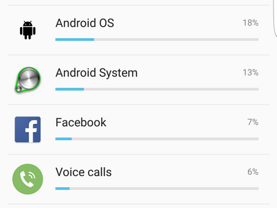 Android Settings Battery Usage Details