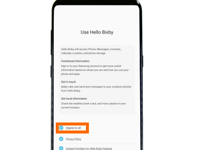 Bixby Agree to All