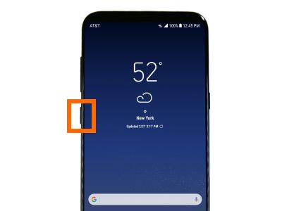 Bixby Button on Samsung Galaxy S8