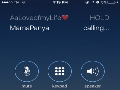 Calling Contact for Conference Call