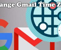 Change Gmail Timezone