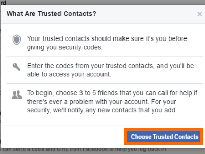 Choose Trusted Facebook Friends