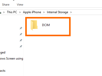 Computer iPhone Storage Drive internal DCIM