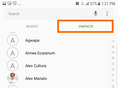 Contacts Android