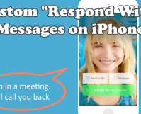 Custom Auto Response on Calls on iPhone