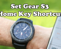Customize Gear S3 Home Button Shortcut