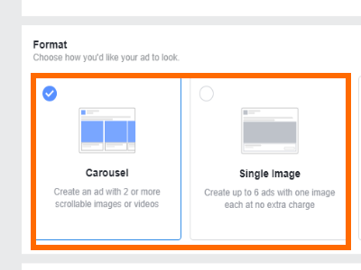 Facebook Create Ad Choose Format
