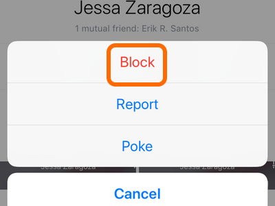 Facebook Mobile More Options Block option