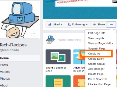 Facebook Page Create Ad