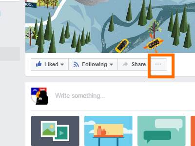 Facebook Page More Options