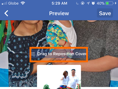 Facebook Profile Edit Cover Drag to Reposition