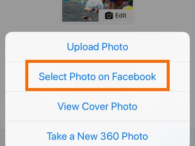 Facebook Profile Edit Cover Options