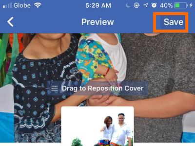 Facebook Profile Edit Cover Profile Save