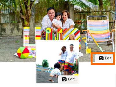 Facebook Profile Edit Cover Profile button