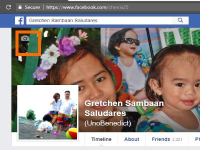 Facebook Profile Edit Cover button