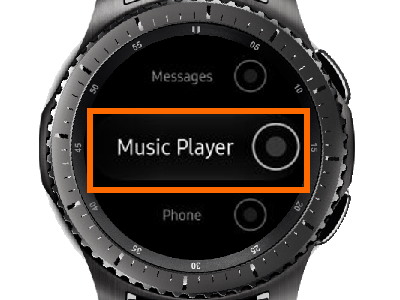Gear S3 Home - Settings - Device - Double Press Home - Music Player