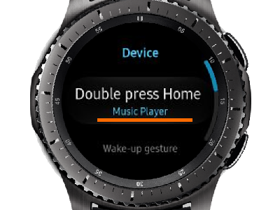 Gear S3 Home - Settings - Device - Double Press Home with Music Player