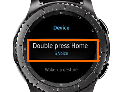 Gear S3 Home - Settings - Device - Double Press Home