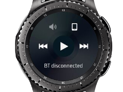 Gear S3 Playing Music
