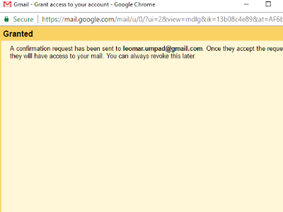 Gmail Access Granted