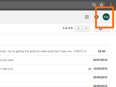 Gmail Account Button
