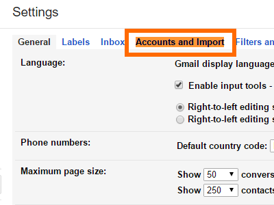 Gmail Click Settings Account and Import