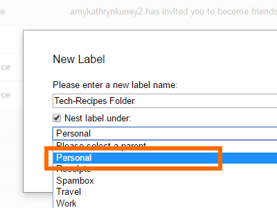 Gmail Create Label Nest Label Under Option