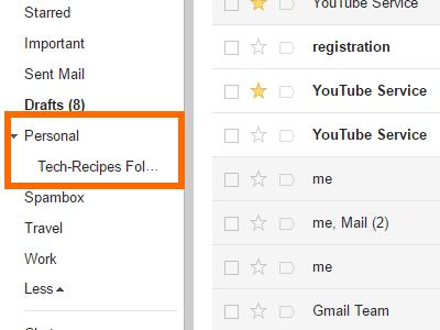 Gmail Folder Created