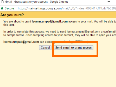 Gmail Grant Access Confirm Access