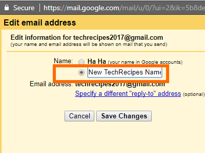 Gmail Name Details New Name