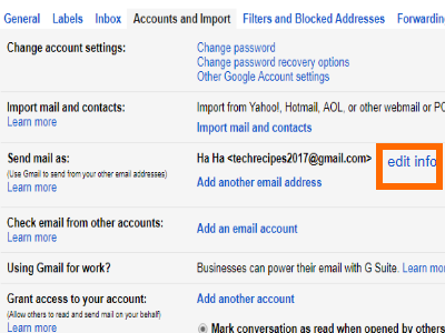 Gmail Settings Account Send Mail As Edit Info Button