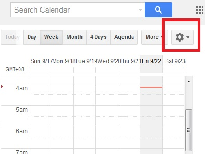Google Calendar More Options