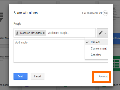 Google Drive File Share Box with Advanced Option