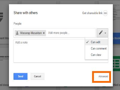 Google Drive File Share Box with Advanced Option
