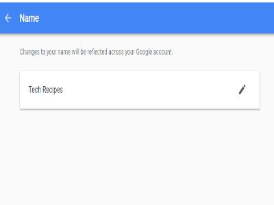 Google Name Successful Change