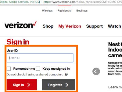 MyVerizon Wireless Log in